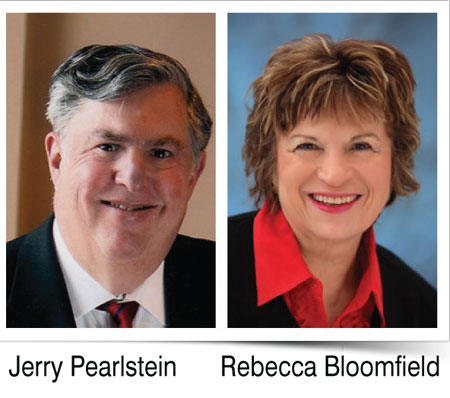 Pictures of owners Jerry Pearlstein and Rebecca Bloomfield